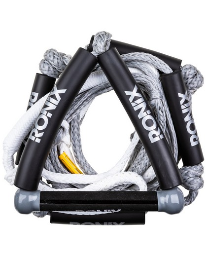 Ronix Bungee Stretch Surf Rope w/Handle 25ft 5-Sect Rope Package Silver