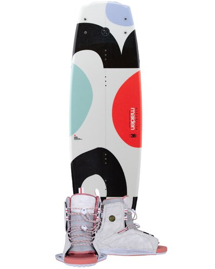 Hyperlite Maiden Womens Wakeboard 2021 with Syn Open Toe Boots