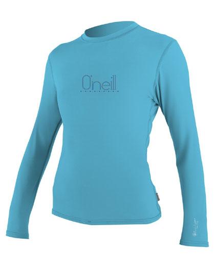 Oneill 24-7 Tech Crew Long Sleeve Rashguard Turquoise