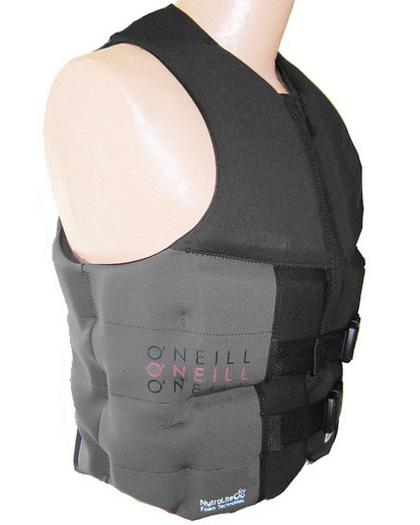 ONeill Assault Mens Neoprene Life Vest Black/Gray 2020 side