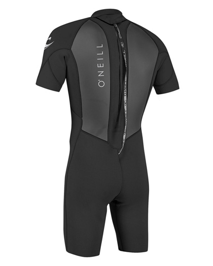 ONeill Mens Reactor II Spring Wetsuit 2mm Black 2020 Back