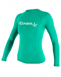 ONeill BASIC 50+ L/S Womens Green Rashguard 2021