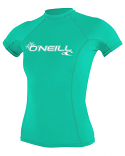 ONeill BASIC 50+ S/S Womens Green Rashguard 2021