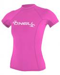 ONeill BASIC 50+ S/S Womens Pink Rashguard 2021